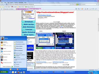 image8 thumb Tutorial como instalar temas genéricos no windows xp e modificar o estilo visual das janelas com Uxtender the uxtheme patch. Download uxtender 1.3