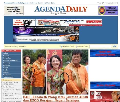 Agenda Daily Elizabeth Wong Khalid Ibrahim Picture