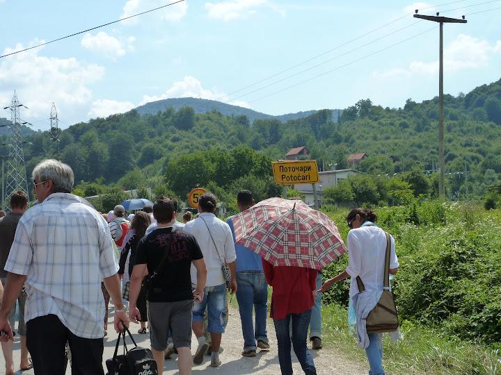 July 11 participants leaving Potocari