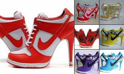 View Women Nike Dunk SB Low and SB High Heels
