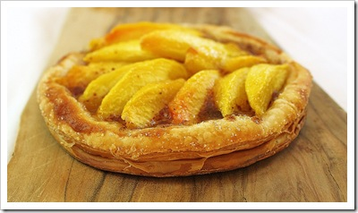 Copy of peach ginger frangipane marzipan puff pastry tartlet