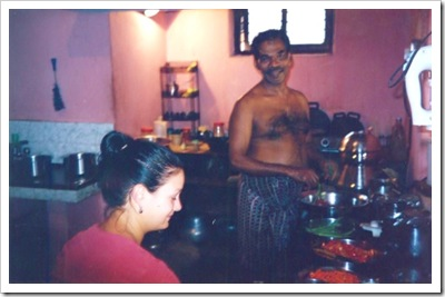 cooking with karup, arunmula,kerala,  india 2000