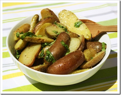 picnic perfect fingerling potato salad olive oil herbs