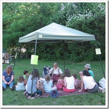 storytelling at the woodstock farm festival