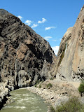 Cañon entre Chimbote et Huaraz