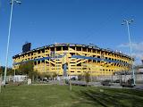 Légendaire stade de la Bombonera à la Boca