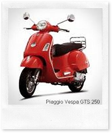Piaggio Vespa GTS 250 red