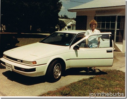 Joy's first car 1986 (2)