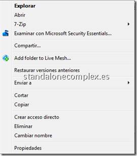 Add folder to Live Mesh