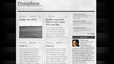 prometheus blogspot template