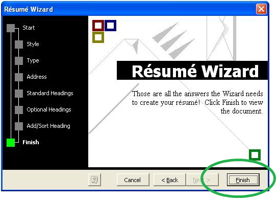 if theres information that is not included in the wizard you can add it here try to make sure it will help you get the job you are looking for - Resume Wizard