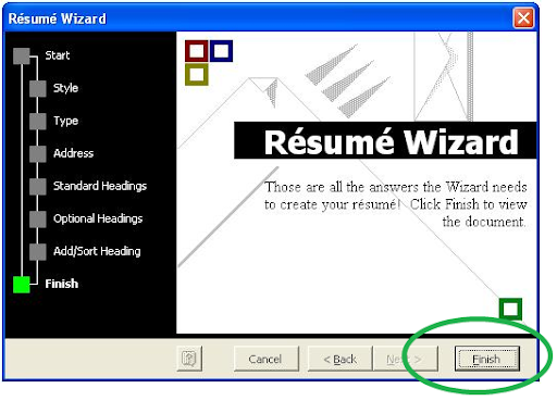 If There?s Information That Is Not Included In The Wizard, You Can Add It  Here. Try To Make Sure It Will Help You Get The Job You Are Looking For.  Microsoft Office Resume Wizard