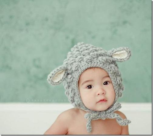 gorro lana niño orejas oveja