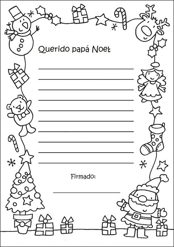 Cartas a Papá Noel para imprimir, ejemplos de Cartas a Papá Noel ...