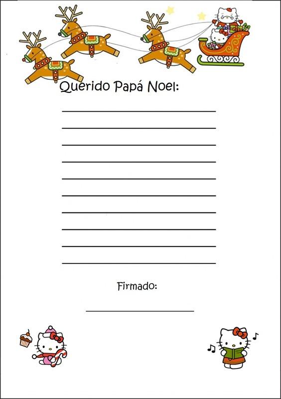 Cartas a Papá Noel para imprimir - Ejemplos