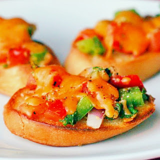 Lime Salsa and Cheddar Bruschetta