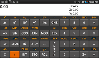 Screenshot of RpnCalc