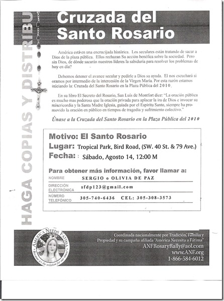 Rosary Rally invite