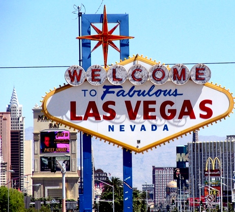 las vegas sign at night. quot;Las Vegasquot; is one of the most