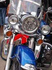Harley de Natal... com lacinho e tudo!