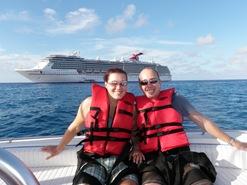 Antes do nosso vôo de para-sail