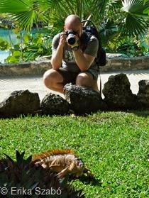 Armado em fotógrafo