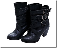 BLACK by moussy Belt-Strap Boot_HK$1,890