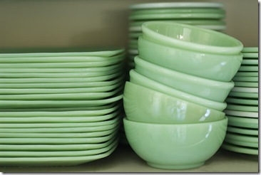 pale green plates and bowls