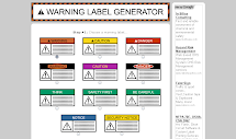 Warning Label Generator
