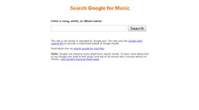 Google Music Search