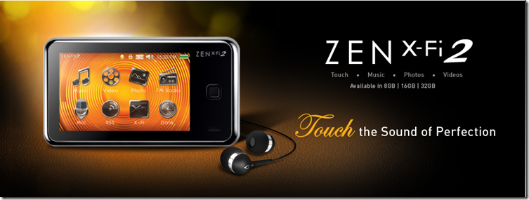 Touch the Sound of Perfection, ZEN X-Fi 2