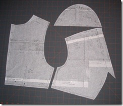 BWOF 04/2009 #110, view B (top) details of garment/pattern pieces