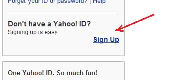بر روی لینک Sign Up کلیک کنید