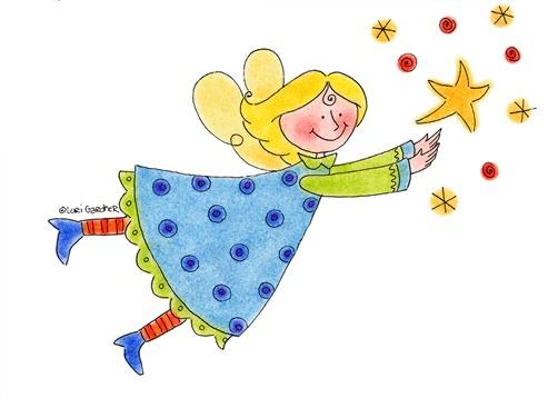 Angel Catching Stars