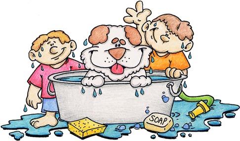 clipart imagens decoupage Bath Time