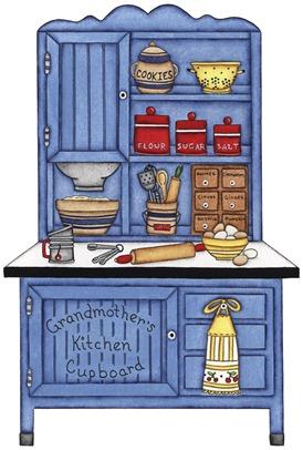 imagens decoupage clipart Grandmas Cupboard