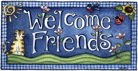 imagens decoupage clipart Welcome Friends