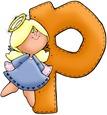 Angel Letter P