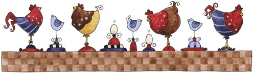 imagem de coupage clipart BDR Hens in a Row-779487