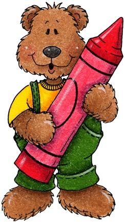 clipart decpoupage Teddy Bear Crayon