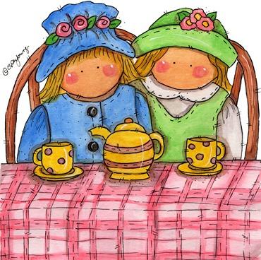 clipart imagem decoupage  Tea Time