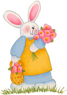 imagens decoupage clipart figura decoupage  Bunny02
