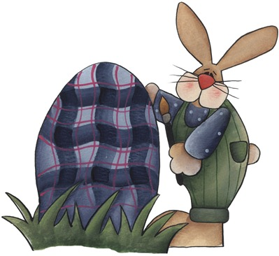 clipart imagem decoupage Painting Bunny02