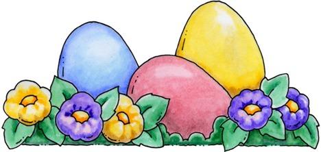 clipart imagem decoupage Easter Eggs