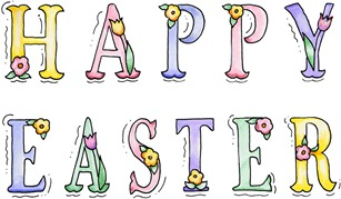 clipart imagem decoupage Happy Easter