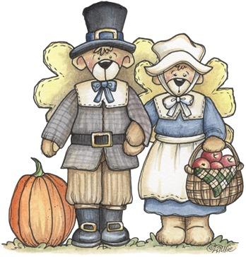 imagem decoupage clipar Pilgrims