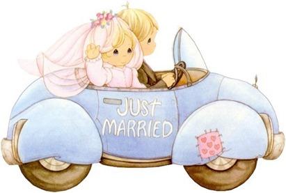 clipart imagem decoupage noivos