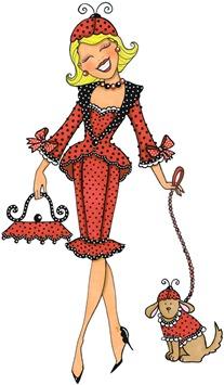 clipart imagens decoupage  Lady Ladybug