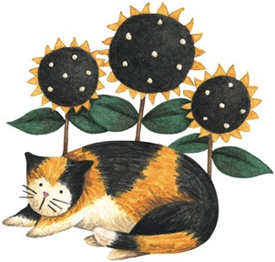 Sunflower Day Cat