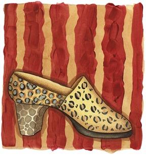 imagem decoupage clipart Shoe Red (22)